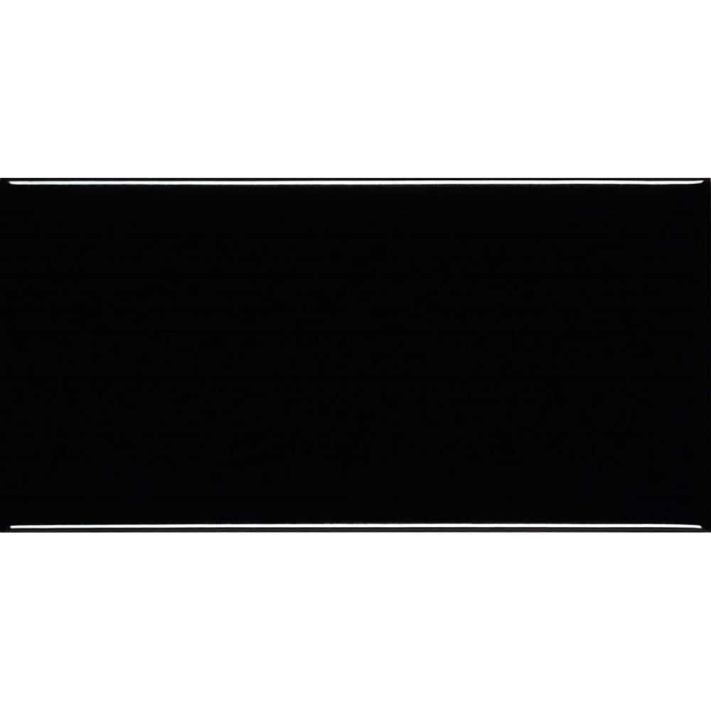 Revestimento-de-Parede-Esmaltado-Borda-Arredondada-10x20cm-Metro-Black-Eliane