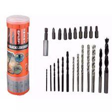 Kit-de-Brocas-para-Concreto-23-Pecas-Black---Decker