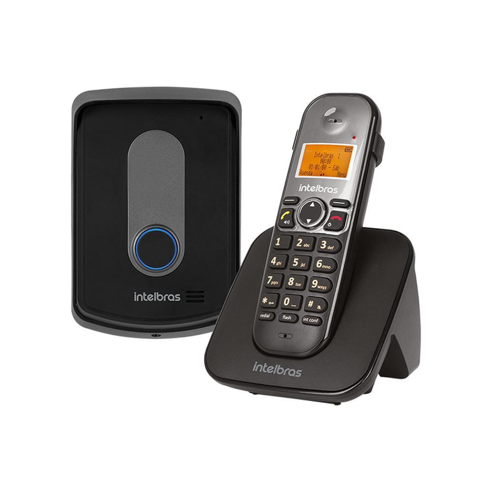 Kit-Porteiro-Eletronico-e-Telefone-sem-Fio-Preto-Intelbras