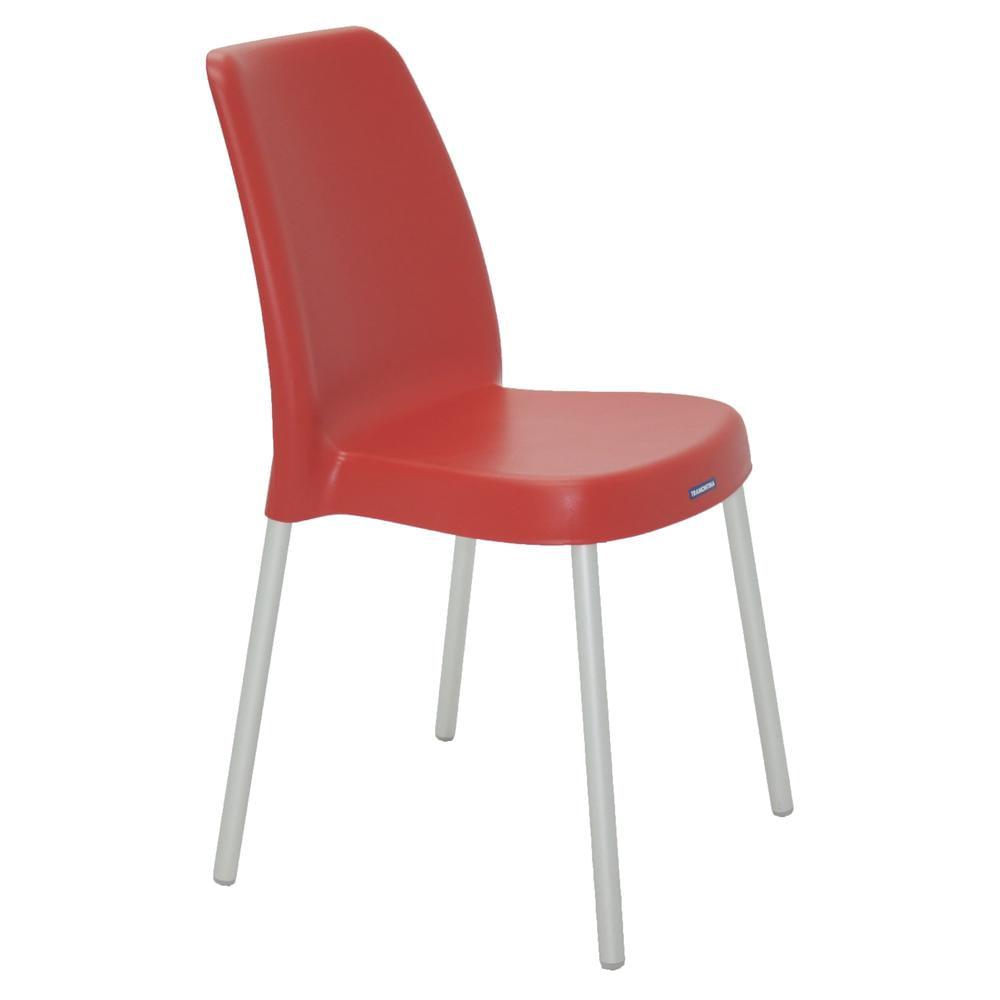 Cadeira-Vanda-Vermelha-sem-Bracos-em-Polipropileno-com-Pernas-Anodizadas-Tramontina