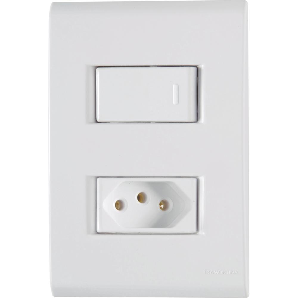 Conjunto-Interruptor-Simples-10A-Branco-Liz-Tramontina