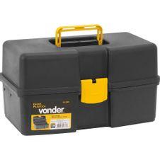 Caixa-para-Ferramentas-Plastica-com-2-Bandejas-Preta-Vonder