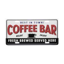 Placa-Carro-Aluminio-Expresso-Coffee-Bar-Branco-Preto---Urban