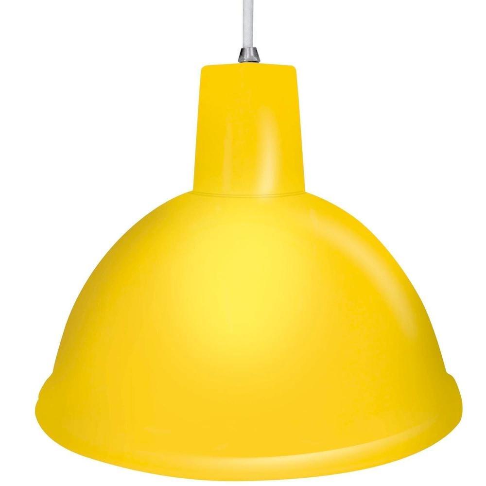 Pendente-Design-Amarelo-com-Luz-Amarela-Taschibra