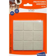 Protetor-Adesivo-de-Feltro-Quadrado-30x30mm-Branco-com-9-Unidades-Bemfixa