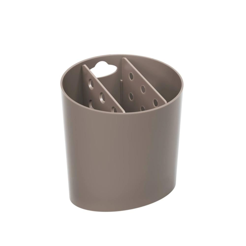 Escorredor-de-Talher-Sobre-Pia-Plastico-Marrom-Coza