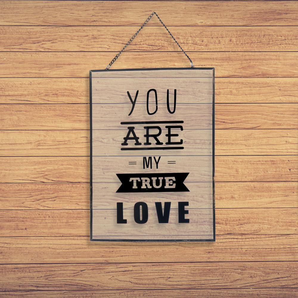 Placa-My-True-Love-Preta-Vidro-Metal---Urban