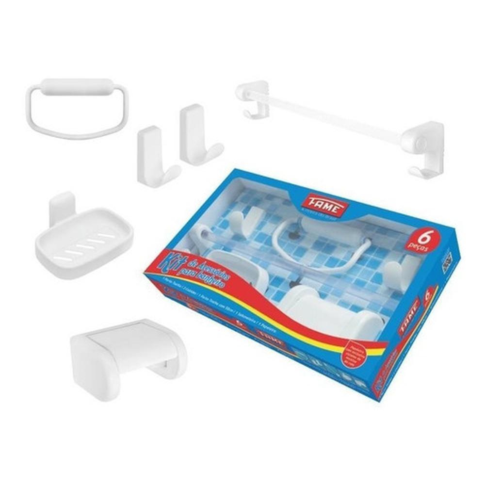 Kit-de-Acessorios-para-Banheiro-com-6-Pecas-Branco-Fame