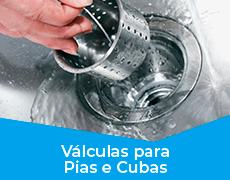 Cozinha 10 Válvulas p/ Pia, Cubas e Tanques