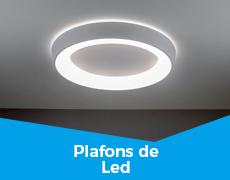 Iluminação 4 plafons de led