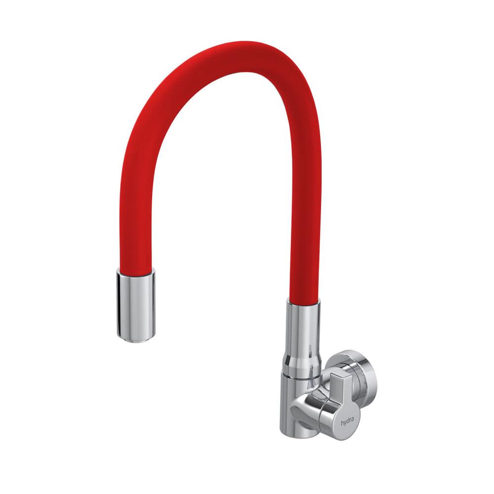 Torneira-1168-de-Parede-para-Cozinha-Hydramotion-Flex-Vermelha-Hydra