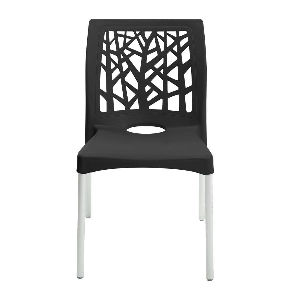 Cadeira-Nature-Preta-Forte-Plastico