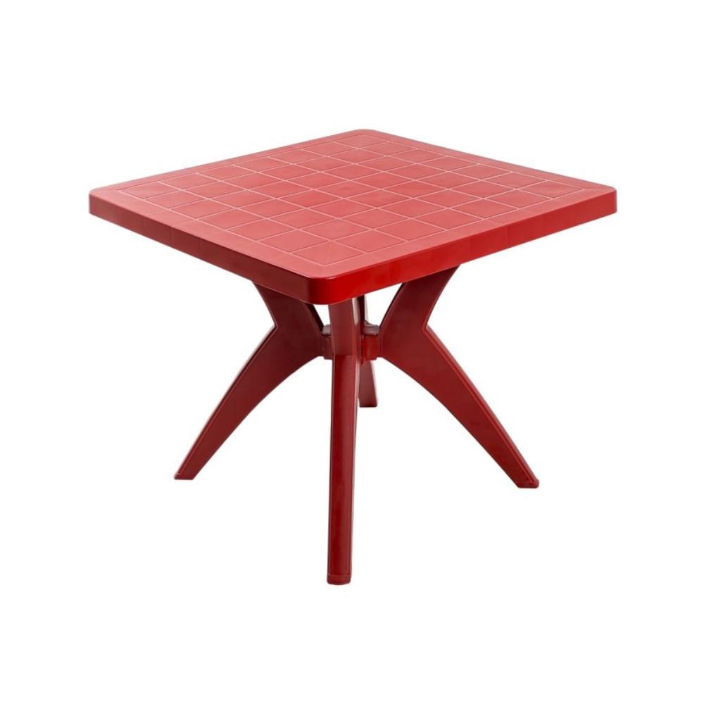 Mesa-Quadrada-Nature-Vermelha-Forte-Plastico