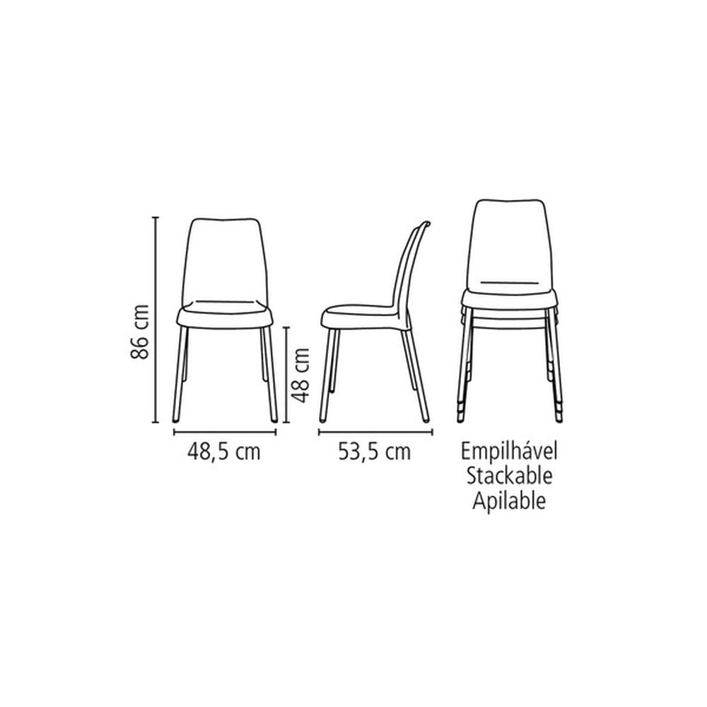 Cadeira-Vanda-Preta-sem-Bracos-em-Polipropileno-com-Pernas-Anodizadas-Tramontina