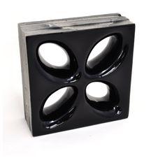 Cobogo-20x20cm-Foglio-Nero-ElementoV