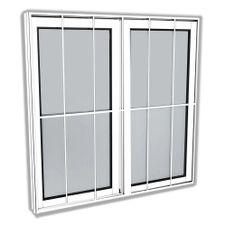 Janela-de-Correr-100-X-120-Com-Grade-Vidro-Liso-Branco-Slim--Lider-Esquadrias