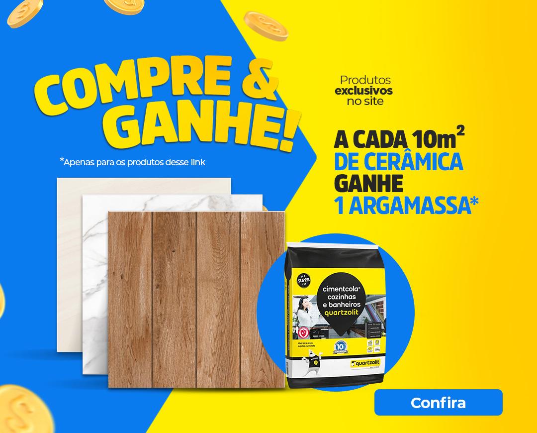 CERAMICA GANHE UMA ARGAMASSA